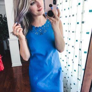 J. Crew Factory Blue Sheath Dress 00